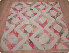 Charm pack quilt. Easy and great result. Can be make in miniature with smaller squares.