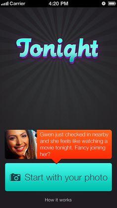 Tonight mobile iPhone app UI home screen