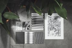 Black Reflection – Printseries with risograph. Reflection, Plant Leaves, Texture, Plants, Black, Flyers, Behance, Retail, Studio