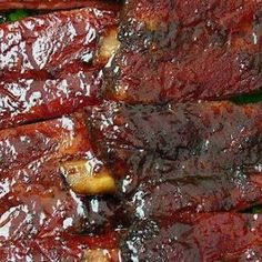 Crockpot BBQ Ribs - we cooked them in the crockpot for 8+ hr, then put them on the grill for a few min with extra bbq sauce. Really good!!
