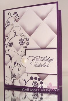 Flowering Flourishes, Faux Tile Technique by tyque - Cards and Paper Crafts at Splitcoaststampers