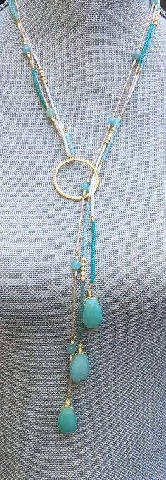 Triple strand Lariat Necklace 'Micai'