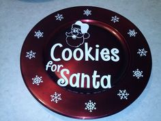 Cookies for Santa (can be ordered to fit most charger sizes)  by sparklingexpressions