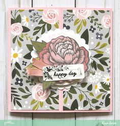 Happy Day, Happy Wishes Gatefold Birthday Cards by @reneezwirek using the #HeartOfHome collection by @pebblesinc and @Tatertots and Jello .com #sponsored
