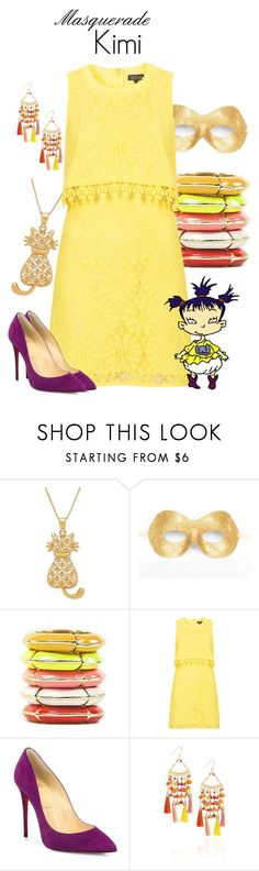 """""""Masquerade: Kimi"""" by jivy44 ❤ liked on Polyvore featuring Masquerade, Topshop, Christian Louboutin and Rosantica"""