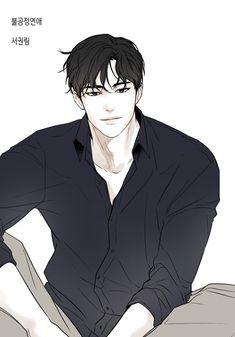 Anime Black Hair, Anime Boy Hair, Black Hair Boy, Anime Art Girl, Manga Art, Anime Manga, Handsome Anime Guys, Cute Anime Guys, Guy Drawing