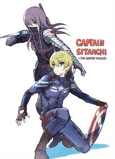 Tales of Vesperia Avengers AU Game Concept Art, Armor Concept, Tales Of Vesperia, Captain America Cosplay, Avengers Art, Winter Soldier Bucky, Tales Series, Fandom Crossover, Bucky Barnes