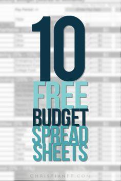 10 Free Household Budget Spreadsheets christianpf.com/...