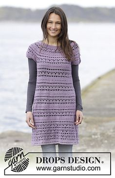 Toulouse Dress By DROPS Design - Free Crochet Pattern - (ravelry)