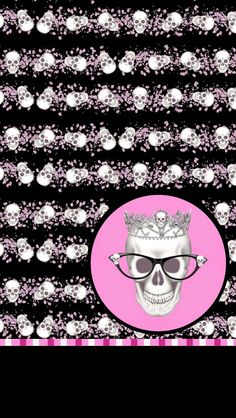 Girly skulls and hearts iphone wallpaper background iphone dazzle my droid pink rocker wallpaper collection skull wallpaperwallpaper backgroundshalloween wallpapercell phone voltagebd