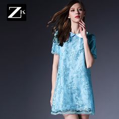 Noi rochie de primăvară pe zk2015 imprimare de primăvară rochie bluză papusa fusta guler Floral Dress