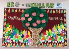 Orman Haftası eko-okul Projects For Kids, Crafts For Kids, Preschool Education, Autumn Crafts, Rangoli Designs, 4 Kids, Free Time, Holidays And Events, Four Square