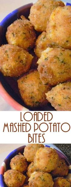 Have left over mashed potatoes? Make these yummy Loaded Mashed Potato Bites. The… Have left over mashed potatoes? Make these yummy Loaded Mashed Potato Bites. These are everything you love about a loaded baked potato! Potato Side Dishes, Vegetable Dishes, Vegetable Recipes, Chicken Recipes, Baked Potato Recipes, Beef Recipes, Skillet Recipes, Recipes For Potatoes, Loaded Baked Potato Dip Recipe