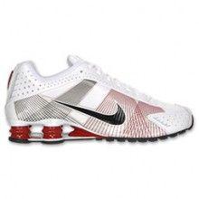 Nike Shox R4 Flywire Mens Running Shoe White Black Red 386154 101
