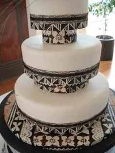 Tapa cloth wedding cakes