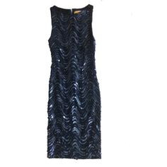 ⬇️REDUCED⬇️Size 0 Sequined Alice + Olivia Drsss Missing a few sequins In the back, but comes with replacements. navy Blue Alice + Olivia Dresses