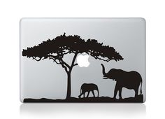 elephant tree macbook decal macbook pro decals by oliviabeauty, $9.99