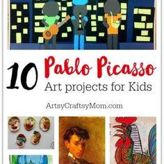 Top 10 Projectos Pablo Picasso para Crianças
