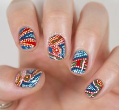 31 Day Challenge 2.0, Day 8 - Dotticure: Aboriginal Artwork inspired Nail Art