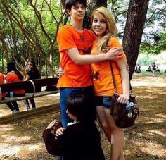 Percy and Annabeth with Nico hugging Percy's leg ;-;