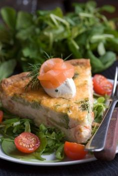 Roasted Broccoli, Goat Cheese, Smoked Salmon and Dill Savoury Tart ...