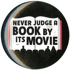 Never Judge A Book By Its Movie Pin | Hot Topic ($1.99) ❤ liked on Polyvore featuring pins and accessories