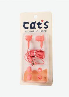 Cats earbuds by Tsumori Chisato.