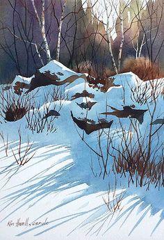 Winter landscape drawing easy 62 new ideas Winter Watercolor, Landscape Paintings, Watercolor Trees, Painting Snow, Winter Landscape Painting, Winter Painting, Watercolor Landscape Paintings, Winter Art, Landscape Drawings