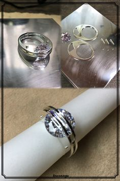Parallel Lines Ring Silver Cubic Zirconia(10mm) NostaLics