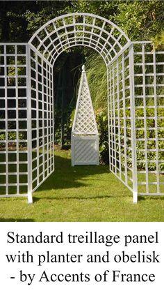 Standard Panel with garden planter and obelisk