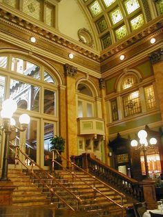 Grand Concourse Restaurant at Station Square was formerly the P. & L.E. Railroad station in the late 1800s & early 1900s. An architectural gem saved for and by the people of Pittsburgh.
