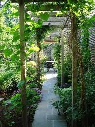 Inviting garden path