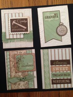 Masculine Cards - Grandpa ORDERS ACCEPTED, please send me a message