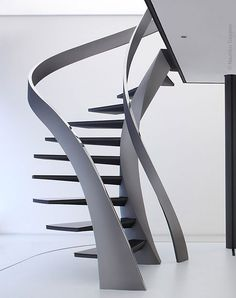 Sculpture stairs are suitable for almost all stair layouts
