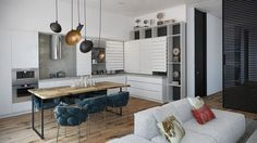 3 Apartments with Industrial Inspired Concrete Wall Panels