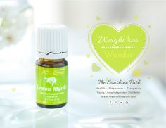 Young Living Essential Oils: Lemon Myrtle lowers insulin and body fat while increasing energy levels.