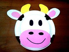 Tabaktan İnek Plate Cow Okul Öncesi/Kindergarten