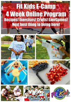 Fit Kids Club Camp starts next week! It's now available as an ONLINE PROGRAM FOR YOUR FIT KIDS TO FOLLOW ALONG! Incl Camp T-Shirt, instructions and photos for the exact healthy after school snack recipes, Fit Kids exercises, supply list for the Fit Crafts & relays we will be doing! PERFECT for AFTER SCHOOL FIT FUN, DAY CARE, CLUBS, SCHOOLS, TEAMS :) FREE Fit Sticks Game to 1st 100 Sign ups! Motivate your child to LOVE fitness at an early age! Help create HEALTHY HABITS that last a LIFETIME!
