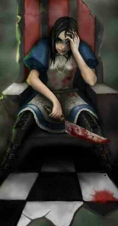 [Fan Art]Alice in Darkland Alice Madness Returns, Dark Alice In Wonderland, Alice Liddell, Chesire Cat, Mad Hatter Party, Beautiful Fantasy Art, Were All Mad Here, Arte Horror, Drawing Reference Poses