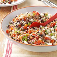 Texas Tabbouleh Recipe -I used to live in Texas and since moving away, missed those classic Tex-Mex flavors that were always such a big part of my meals. I decided to create a fresh and healthy salad that reminds me of traditional pico de gallo. My friends especially love it because it's so different; it's always a pretty popular dish at our gatherings. —Tammy Davis, Arlington, Virginia