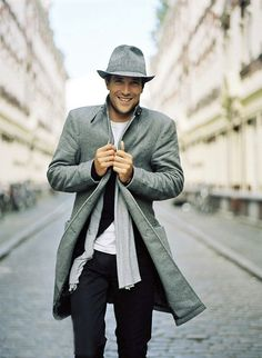 Men's Fashion - Loving this trench coat for the snowy winter season!