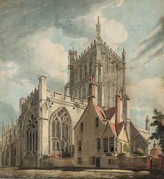 "Joseph Mallord William Turner, ""Catedral de Bristol College Green '1791"