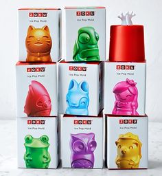 Awesome popsicle molds: Zoku individual character popsicle molds now out! Our kids are fighting over which is cutest.