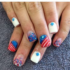 4th of July nails! Can't wait