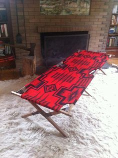 summer cot: pendleton... only wish my living room was big enough for one of these!