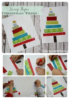 scrap paper tree kids craft