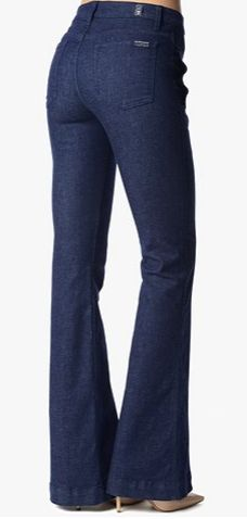 SEAMED TROUSER WITH SIDE BUTTON POCKETS IN DEEP RINSE