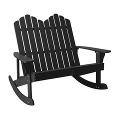 Bloomingville Wooden Rocking Bench in Black