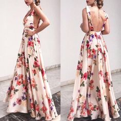 SPECIFICATIONS: Product Name Sexy New Backless Floral Print Maxi Dress Brand Dreamlipshop SKU Gender Women Style Elegant/Sexy/Fashion Type Maxi Dress Occasion Party/Vacation/Daily Life Material Polyester fiber Sleeve Sleeveless Decoration Floral Print Sexy Dresses, Nice Dresses, Prom Dresses, Beach Dresses, Prom Dress Shopping, Floral Print Maxi Dress, Dress With Bow, Types Of Fashion Styles, Dress Brands
