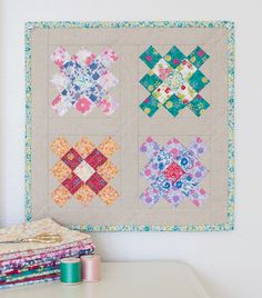 A mini version of the Little Granny Mini Quilt by Stacy Olson.